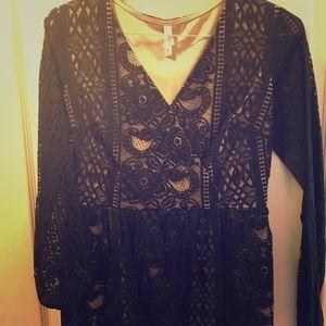 Black lace dress medium